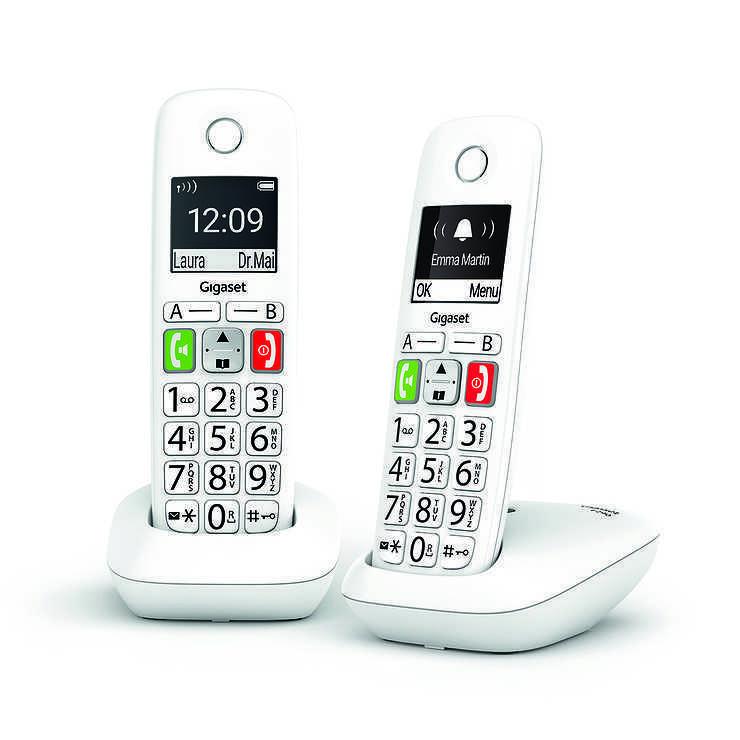 TELEPHONES E290 DUO SANS FIL TOUCHES LARGES 0