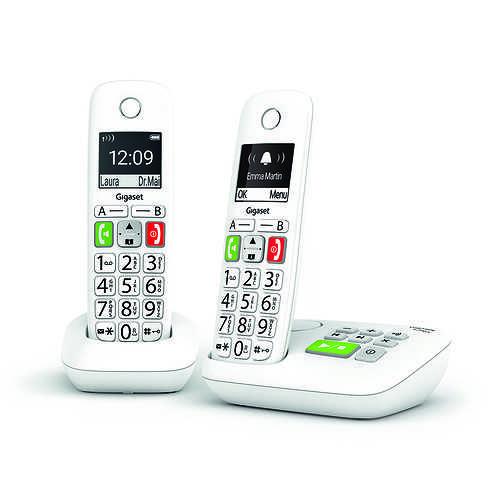 TELEPHONES E290 DUO SANS FIL TOUCHES LARGES AVEC REPONDEUR 0