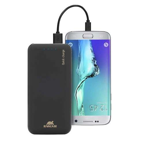 CHARGEUR PORTABLE 20000 MAH 2.1A MICRO USB+ TYPE C QC va20741