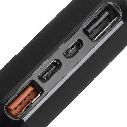 CHARGEUR PORTABLE 20000 MAH 2.1A MICRO USB+ TYPE C QC va20742