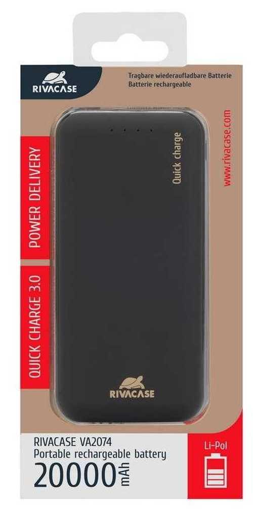 CHARGEUR PORTABLE 20000 MAH 2.1A MICRO USB+ TYPE C QC va2074p