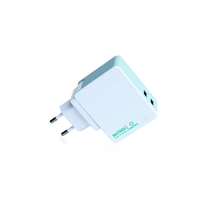 CHARGEUR USB + POWERBANK 2600 MAH + 3 PRISES SECTEUR EU/UK/US 0