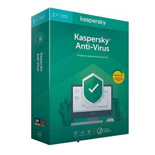 LOGICIEL KASPERSKY ANTIVIRUS 2020 1 POSTE 1 AN 0