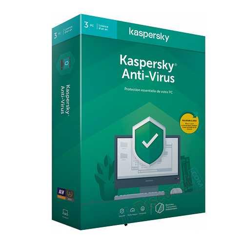 LOGICIEL KASPERSKY ANTIVIRUS 2020 3 POSTES 1 AN 0