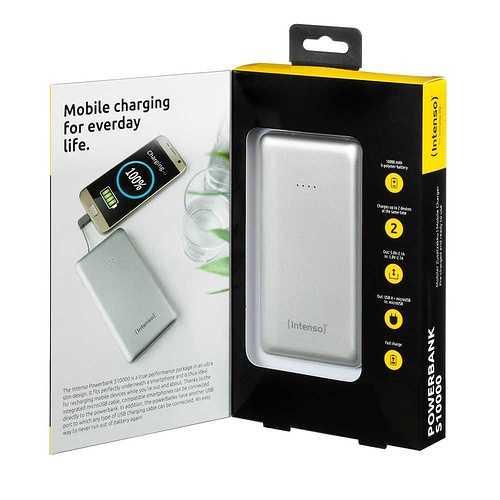 CHARGEUR SERIE S10000 10000 MAH 5 V 2.1A 1X USB ARGENT 7332531p2