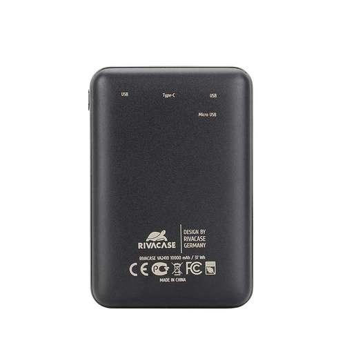 CHARGEUR RIVAPOWER 10000 MAH 2.1A MICRO USB+ TYPE C va24102