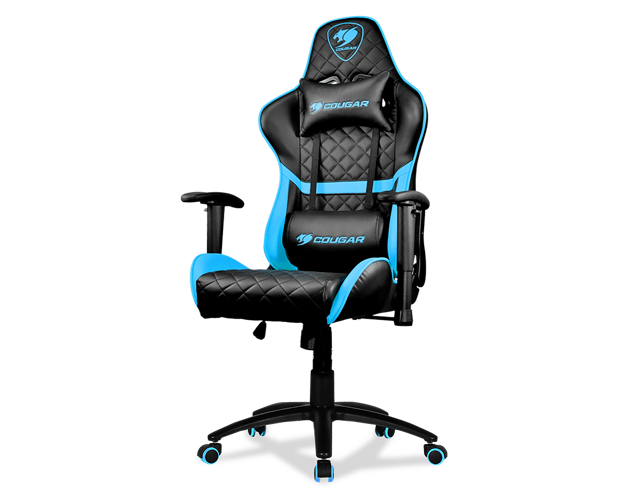 FAUTEUIL DE BUREAU ARMOR ONE MEDIUM -  NOIR / BLEU  -2armoroneskyblue