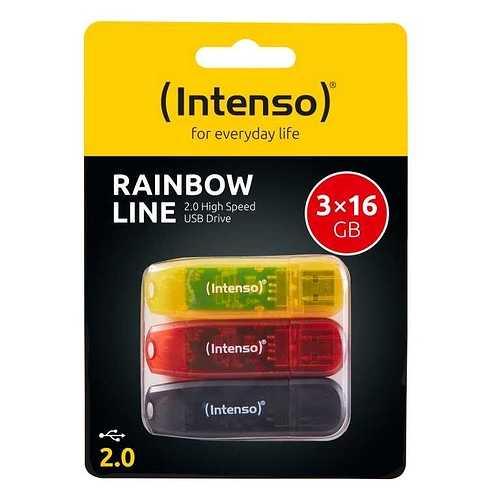 PACK 3 x 16 GO SERIE RAINBOW USB 2.0 3502473p1