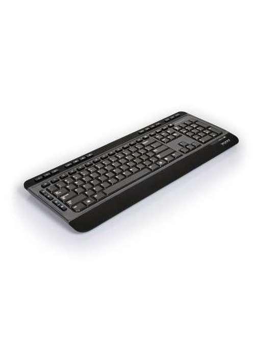CLAVIER + SOURIS SANS FIL USB + TYPE C NOIR 9009017