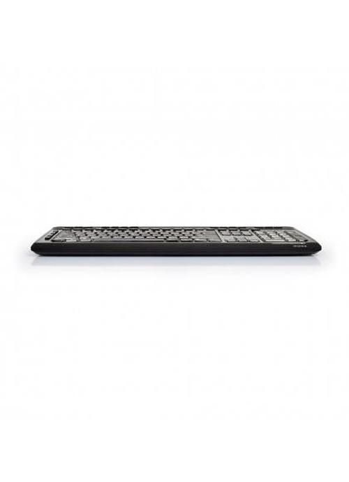 CLAVIER + SOURIS SANS FIL USB + TYPE C NOIR 9009018