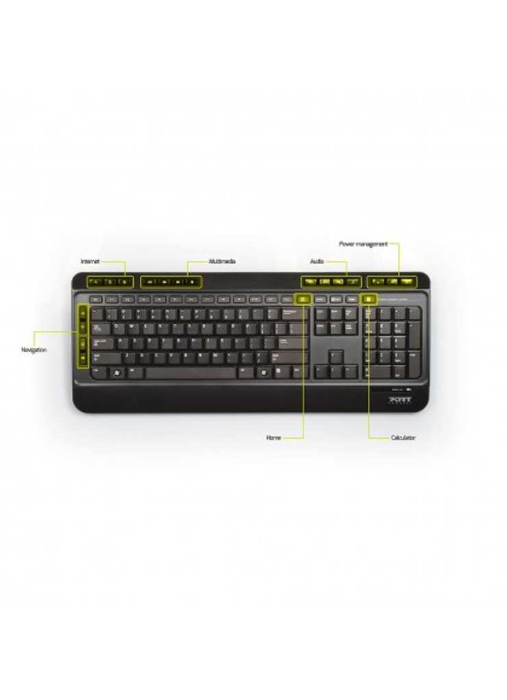 CLAVIER + SOURIS SANS FIL USB + TYPE C NOIR 9009016