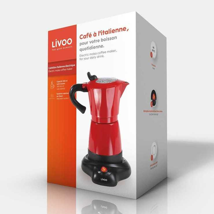 CAFETIERE ELECTRIQUE ITALIENNE CAPACITE 6 TASSES ROUGE dod117pack01