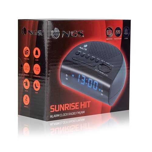RADIO REVEIL SUNRISE HIT LED BLEU sunrisehit5