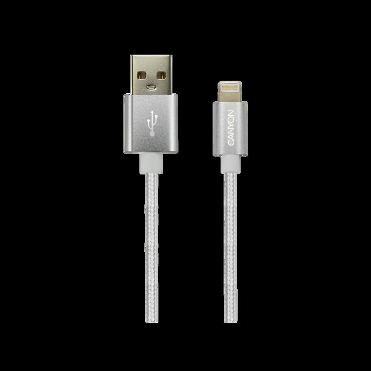 CORDON CHARGE LIGHTNING USB 1 M TRESSE SACHET BLANC cne-cfi3pw1