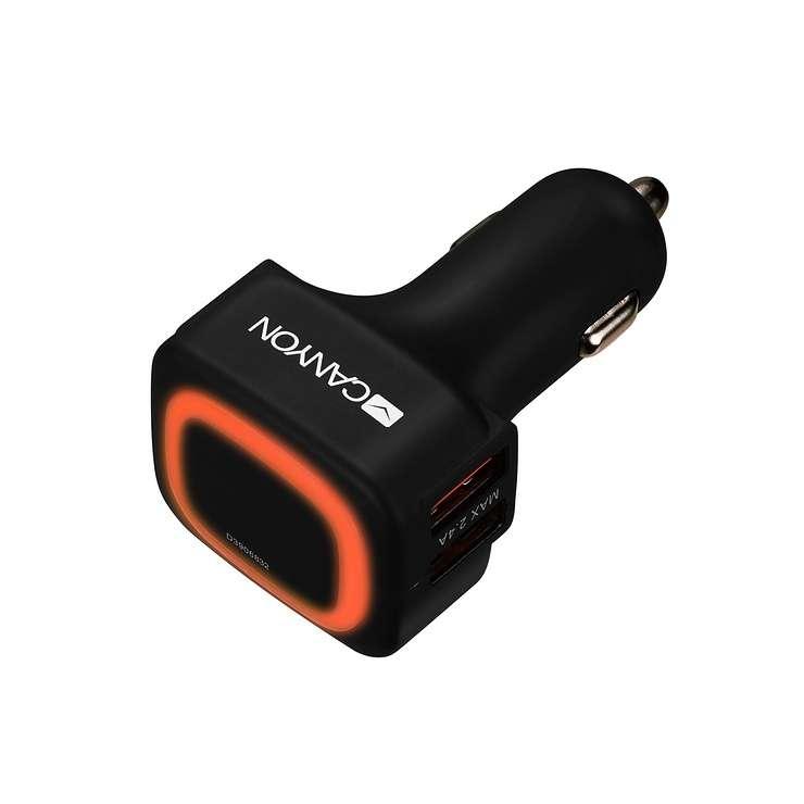 CHARGEUR ALLUME CIGARE 4 X USB 4.8A 12V NOIR 0