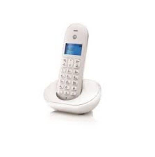 LOT DE 3 TELEPHONES T101L SINGLE SET SANS FIL BLANC 0