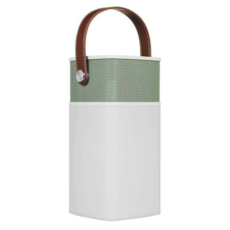 LOT DE 5 ENCEINTES LAVA 5 WATTS BLUETOOTH + LAMPE LED - VERT RETRO btlamp2vert3