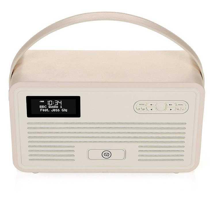 RADIO RETRO MKII DAB / BT / FM 10 WATTS SIMILI CUIR - CREME vqretromkiicreme1