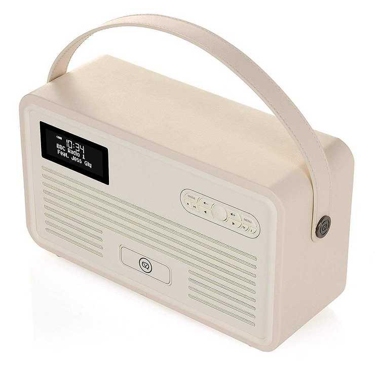 RADIO RETRO MKII DAB / BT / FM 10 WATTS SIMILI CUIR - CREME vqretromkiicreme8