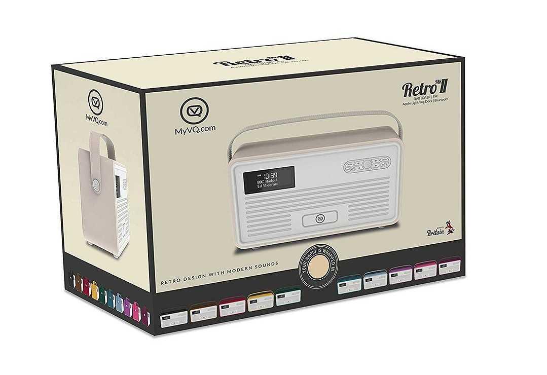LOT DE 2 RADIOS RETRO MKII DAB / BT / FM 10 WATTS SIMILI CUIR - CREME vqretromkiicreme5