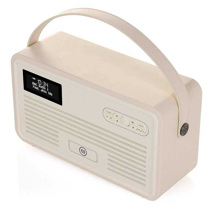 LOT DE 2 RADIOS RETRO MKII DAB / BT / FM 10 WATTS SIMILI CUIR - CREME vqretromkiicreme8
