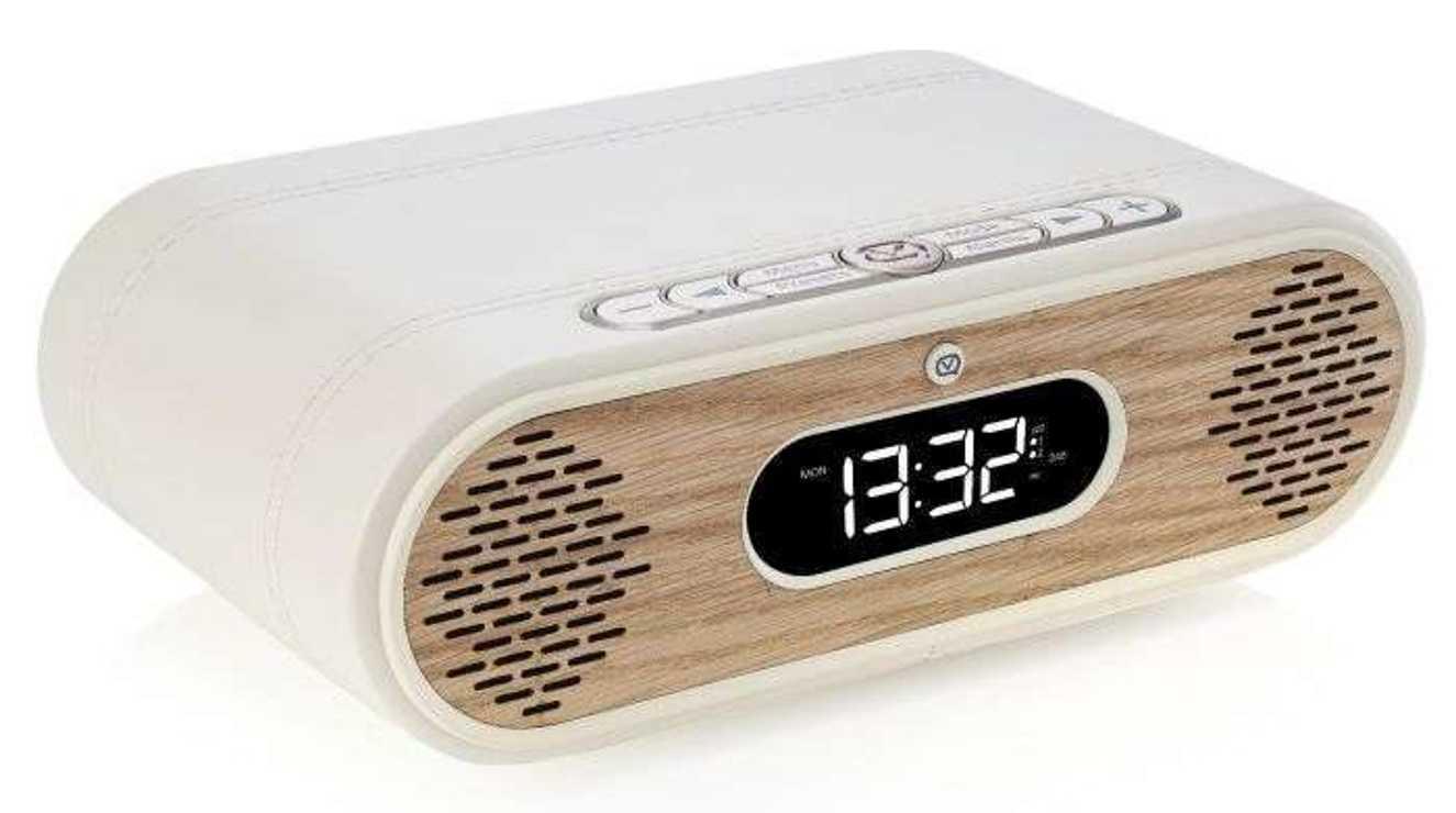 RADIO REVEIL ROSIE LEE DAB / DAB+ /FM 10 WATTS - CREME / CHÊNE vqrosiecrok1