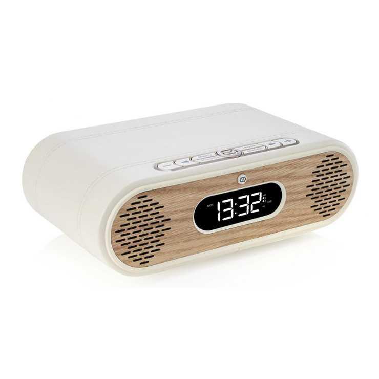RADIO REVEIL ROSIE LEE DAB / DAB+ /FM 10 WATTS - CREME / CHÊNE 0