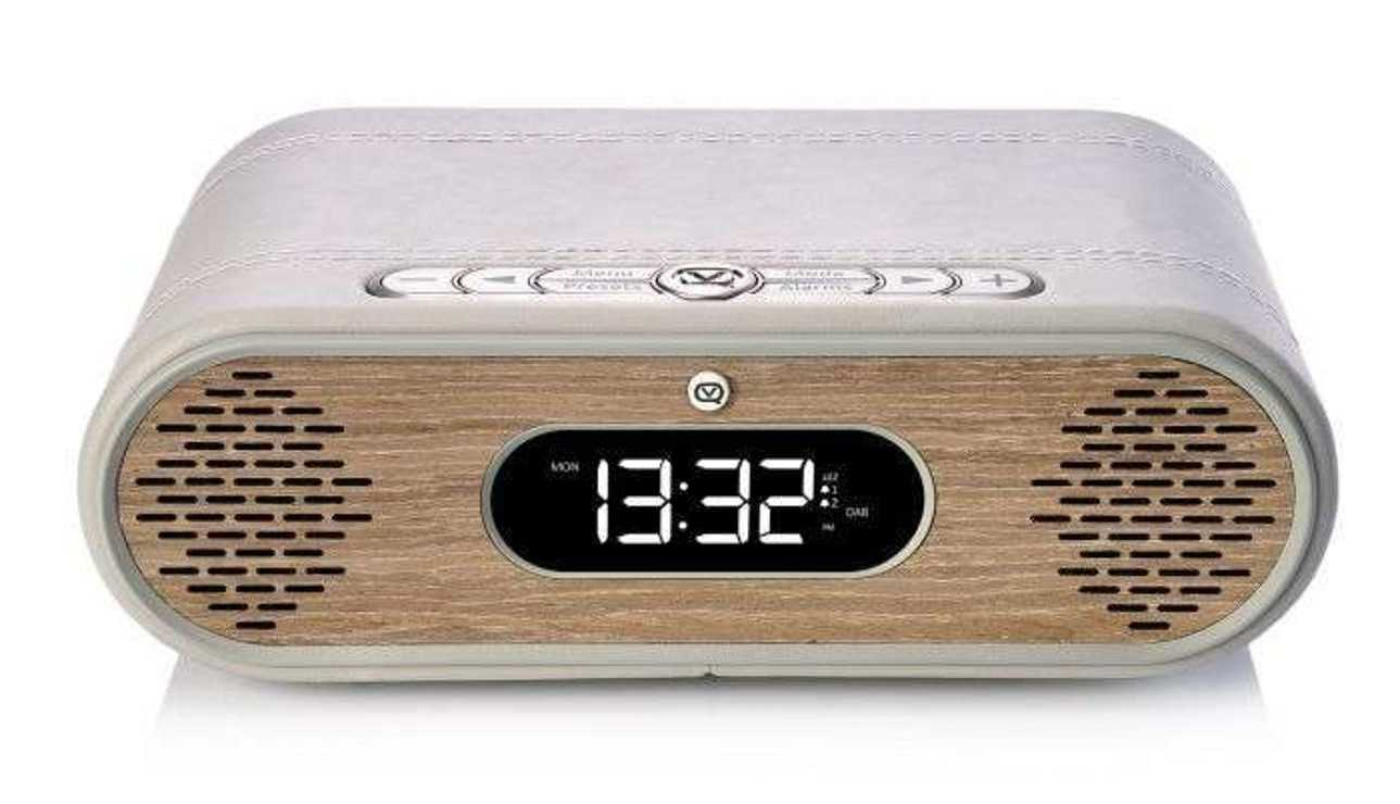 RADIO REVEIL ROSIE LEE DAB / DAB+ /FM 10 WATTS - GRIS VERT / CHÊNE vqrosielgggo5