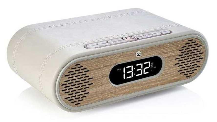 LOT de 2 RADIOs REVEIL ROSIE LEE DAB / DAB+ /FM 10 WATTS - GRIS VERT / CHÊNE vqrosielgggo4