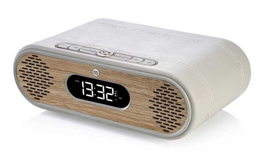 LOT de 2 RADIOs REVEIL ROSIE LEE DAB / DAB+ /FM 10 WATTS - GRIS VERT / CHÊNE vqrosielgggo3