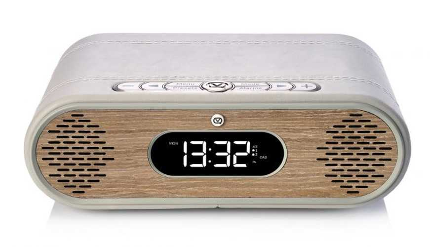 LOT de 2 RADIOs REVEIL ROSIE LEE DAB / DAB+ /FM 10 WATTS - GRIS VERT / CHÊNE vqrosielgggo5