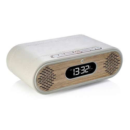LOT de 2 RADIOs REVEIL ROSIE LEE DAB / DAB+ /FM 10 WATTS - GRIS VERT / CHÊNE 0
