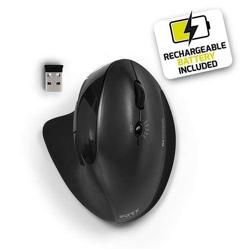 SOURIS ERGONOMIQUE SANS FIL RECHARGEABLE DROITIER USB 900706-mouseergonomicrechargeablerighthanded-topdongleusbpictorechargeable