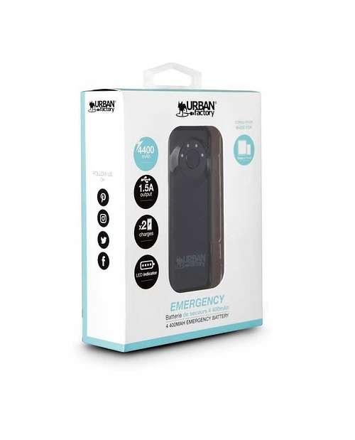 CHARGEUR SMARTPHONE/TABLETTE 4400MAH - NOIR bat46ufnoir6