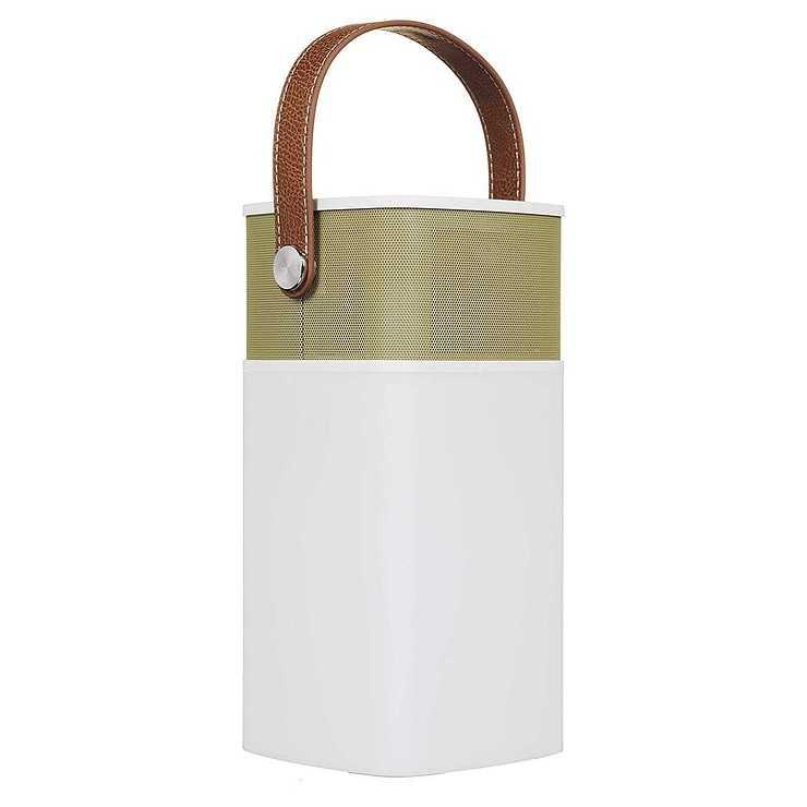 LOT DE 5 ENCEINTES LAVA 5 WATTS BLUETOOTH + LAMPE LED - MOUTARDE RETRO btlamp2moutarde1