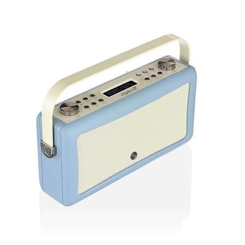 LOT DE 2 RADIOS HEPBURN MKII DAB/BT/ FM 20 WATTS SIMILI CUIR - BLEU CIEL vqhepmkiibl5