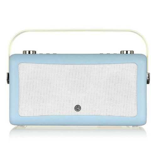 LOT DE 2 RADIOS HEPBURN MKII DAB/BT/ FM 20 WATTS SIMILI CUIR - BLEU CIEL vqhepmkiibl7