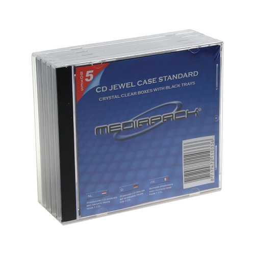 PACK DE 5 BOÎTIERS CD JEWELCASE 0