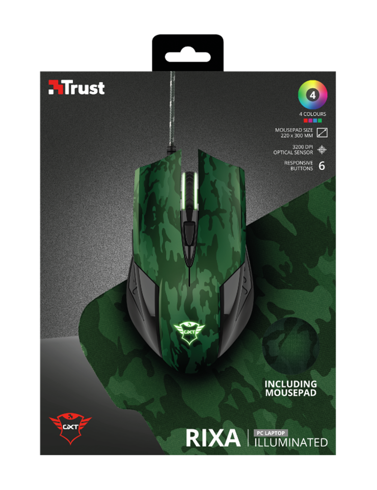 GAMING PACK GXT 781 RIXA CAMOUFLAGE SOURIS + TAPIS tr236117