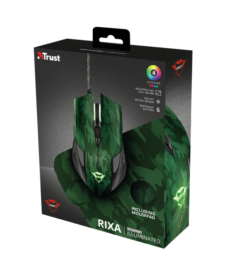 GAMING PACK GXT 781 RIXA CAMOUFLAGE SOURIS + TAPIS tr236118