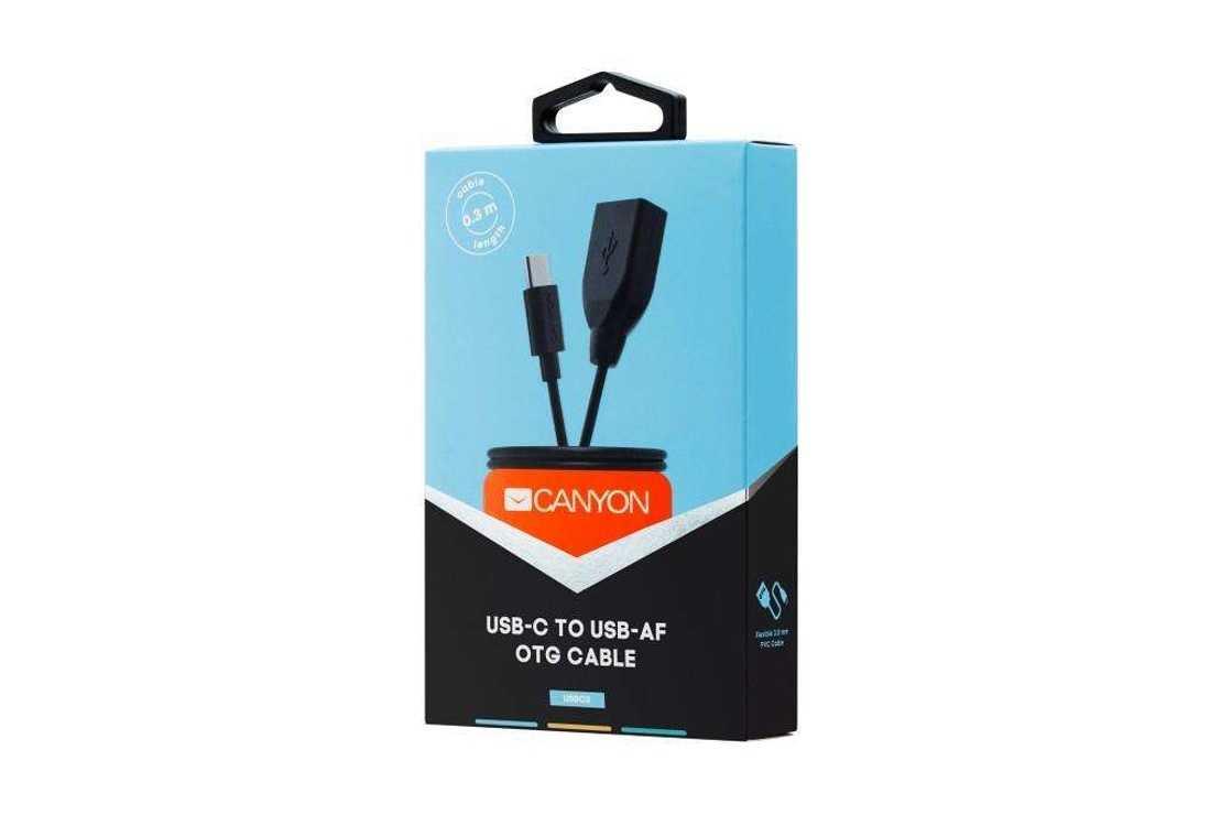 CORDON USB TYPE C VERS OTG 0,3 M NOIR rs12408cne-usbc305-hpr