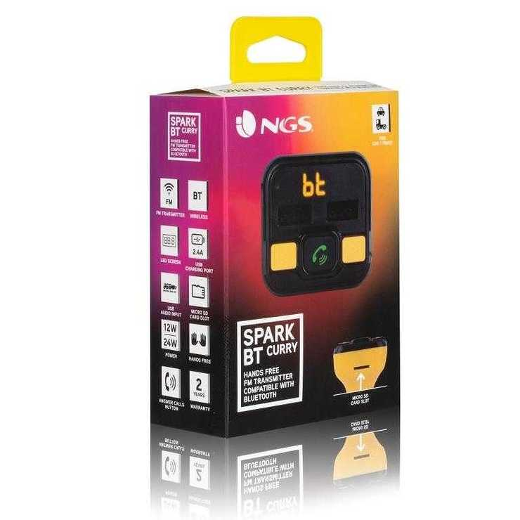 TRANSMETTEUR FM ALLUME CIGARE BT + TELECOMMANDE ngssparkcurrynewpack02