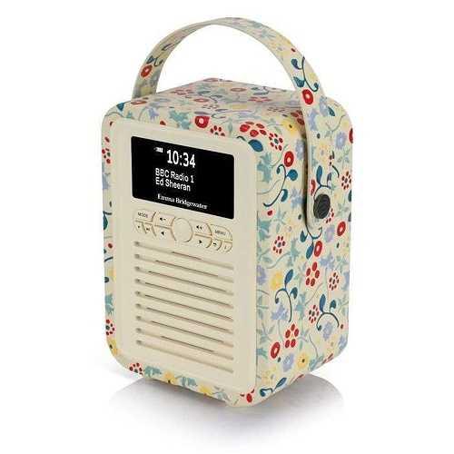 RADIO RETRO MINI DAB / BT FM 5 WATTS SIMILI CUIR EMMA.B - SPRING vqminiebspr2
