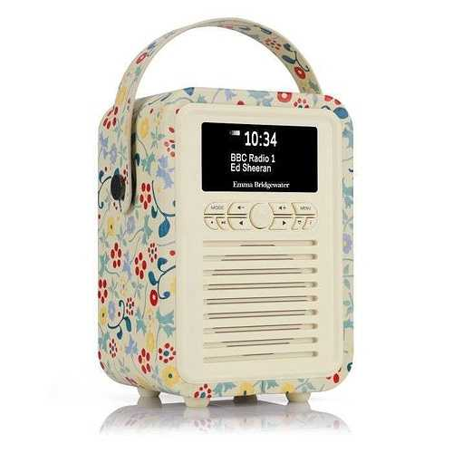 RADIO RETRO MINI DAB / BT FM 5 WATTS SIMILI CUIR EMMA.B - SPRING vqminiebspr5