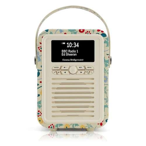 RADIO RETRO MINI DAB / BT FM 5 WATTS SIMILI CUIR EMMA.B - SPRING 0