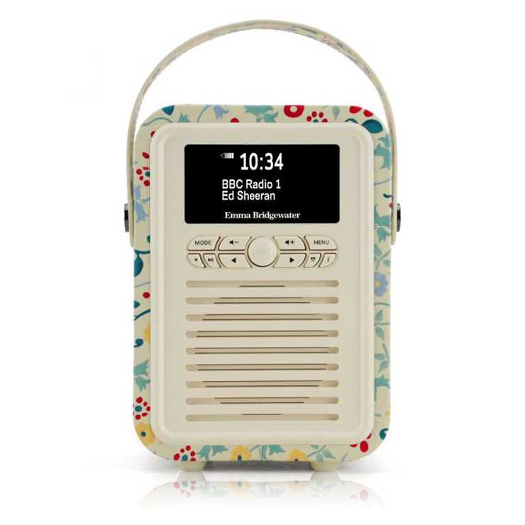 RADIO RETRO MINI DAB / BT FM 5 WATTS SIMILI CUIR EMMA.B - SPRING 0