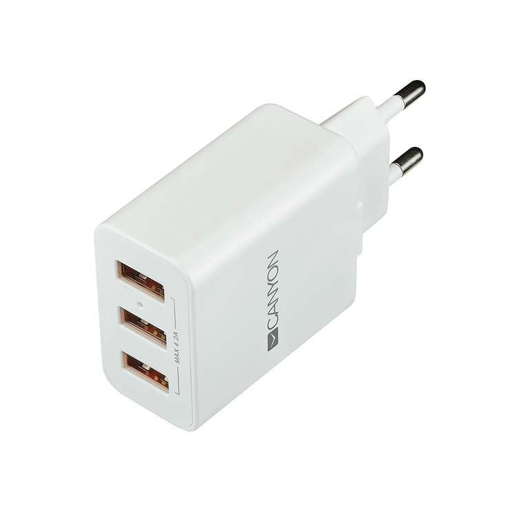 LOT DE 10 CHARGEURS SECTEUR 3 X USB 4.2A 0