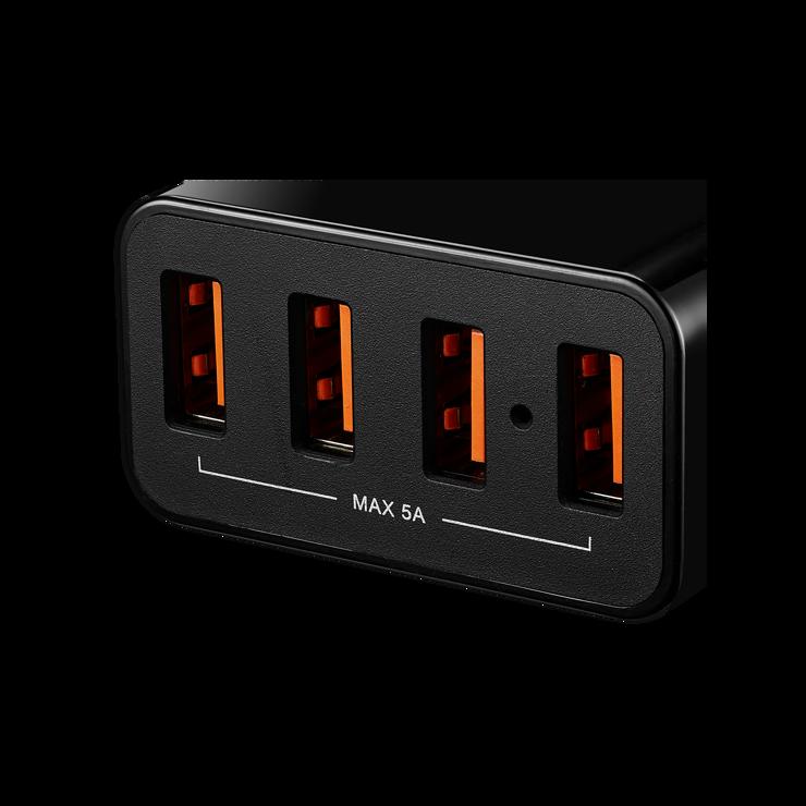 LOT DE 10 CHARGEURS SECTEUR 4 X USB 5A - NOIR cne-cha06b-port