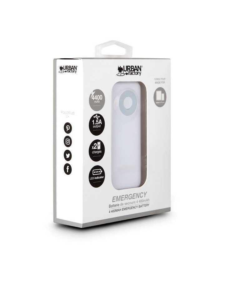 LOT DE 10 CHARGEURS SMARTPHONE/TABLETTE 4400MAH - BLANC bat45ufblanc1