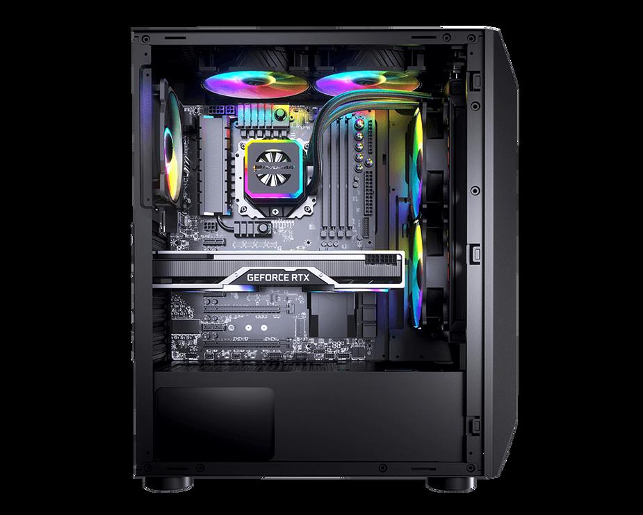 BOITIER PC GAMING MX410 PANNEAU ACRYLIQUE RGB 08-410
